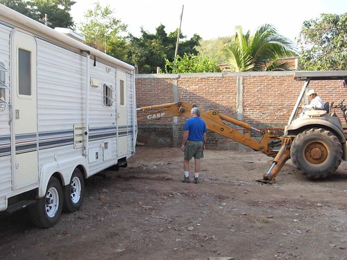 Moving the trailer