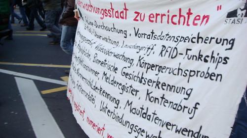 Demo gegen den Überwachungsstaat
