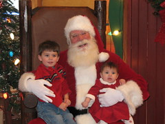 Austin and Maria with Santa