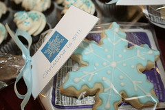 Snowflake Cookies - Packaged (irresistibledesserts) Tags: birthday snowflake wedding shower engagement cookie lootbag