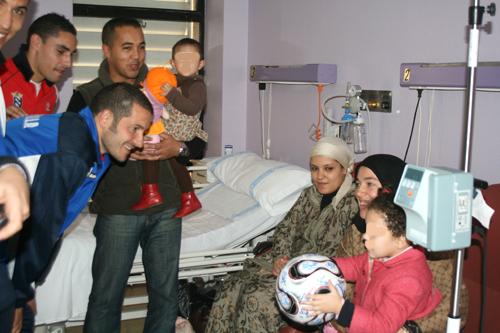 UD Melilla visita hospital