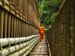Footbridge over Nam Khan river (Bn) Tags: topf50 topf300 unescoworldheritagesite mooi brug laos topf100 500faves soe topf200 luangprabang oranje stepbystep walkingpath buddhistmonk mekongriver downstream topf400 topf500 coconutpalms topf700 topf600 100faves woodenboards 50faves 200faves namkhanriver abigfave 300faves aplusphoto 400faves 600faves 700faves mightymekong boostert lesamisdupetitprince bridgeoverthenamkhanriver muddymekong lazyluangprabang benphotography richbrownriver twolazyrivers broadgreenmeadow walklikeamonktian