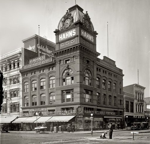 Pictured is the Hahn's shoe store that was located at Seventh and K streets