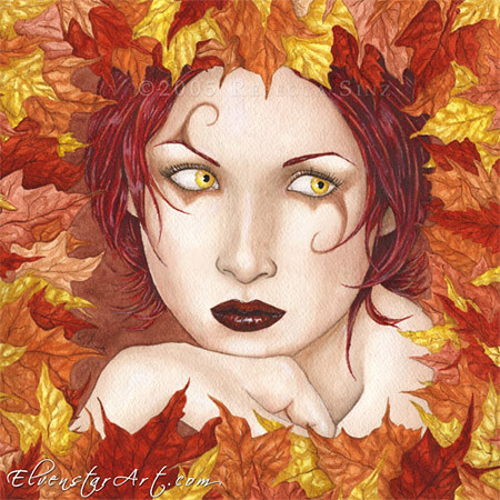 Fairy of the Autumn Wood, by Rebecca Sinz