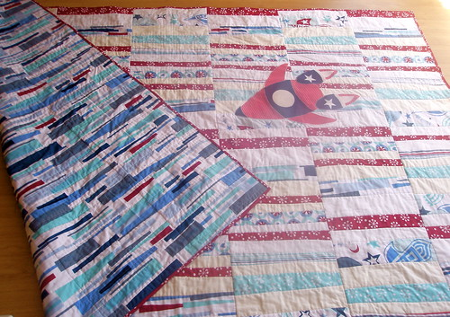 Hop, Skip & A Jump : Rocket Quilt for Dylan