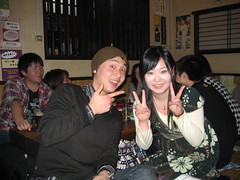 Lim and the new girlfriend (jrkester) Tags: japan hirosaki 2008