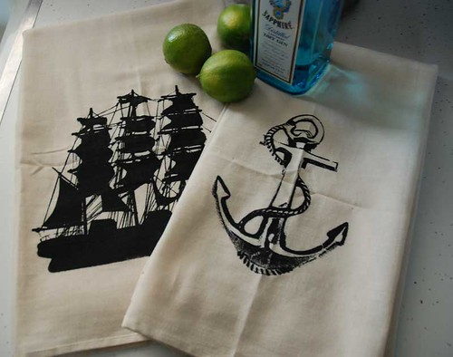 Nautical Bar Towels