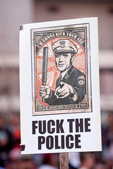 I'm Gonna Kick Your Ass (Thomas Hawk) Tags: california usa america oakland unitedstates unitedstatesofamerica protest eastbay fuckthepolice fav10 oscargrant oscargrantprotest oaklandoscargrantprotest011409