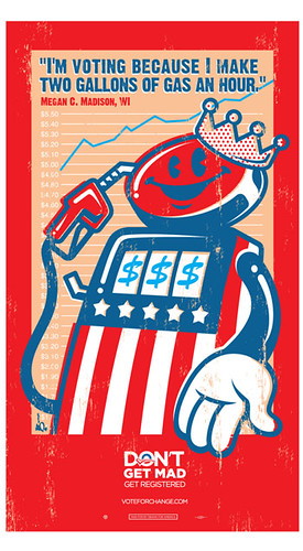 Tristan Eaton's Obama Gas Pump poster (Knight funded YArts, that is featuring his work on their new Detroit community arts site)