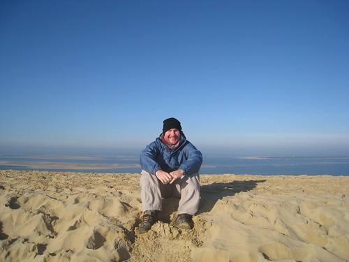 Atop the Dune of Pilat with a view of the bay and Atlantic Ocean