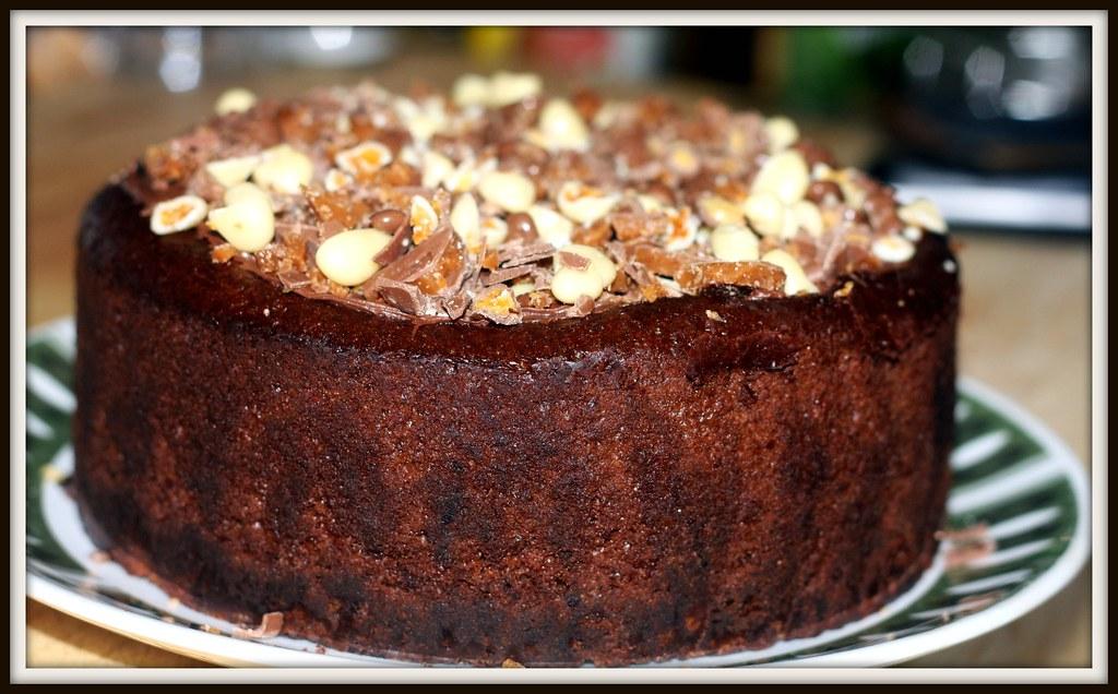 Baked Choc Cheesecake