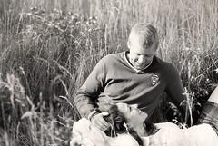 In the fields warm B & W (focus on life) Tags: summer portrait bw love field nikon couple warm 85mm tint romantic nik d200 capture tinted 85mmf18 efex