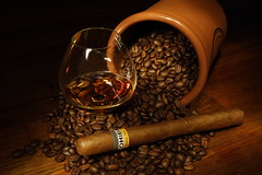 20090124 Cohiba (SteenT) Tags: coffee cigar brandy 365 cognac cohiba lightpaint project365 colorphotoaward vipveryimportantphotos steentalmark talmark