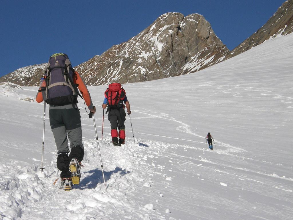 034- En el Glaciar, con el Vignemale ya cerca