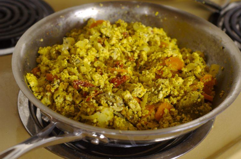 tofu scramble pan