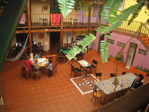 Inner courtyard of Hostel Fatima