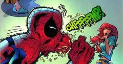 Holy cobwebs! ... Spiderman, that's not your stickyspiderstuff, poor Mary Jane!¡El Moco Araña!