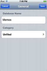 HanDBase - Database name