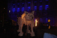 Wolf Lantern Puppet (AlxGrn) Tags: liverpool capitalofculture liverpool2008 capitalofculture2008 mannisland wolfpuppet liverpooltransitionevent illuminatedwolfpuppet