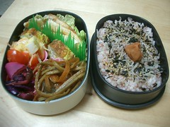 for me (skamegu) Tags: food japan tomato rice egg salmon bento japanesefood   furikake hanpen          harasu