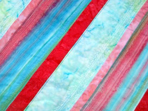 batik quilt front detail