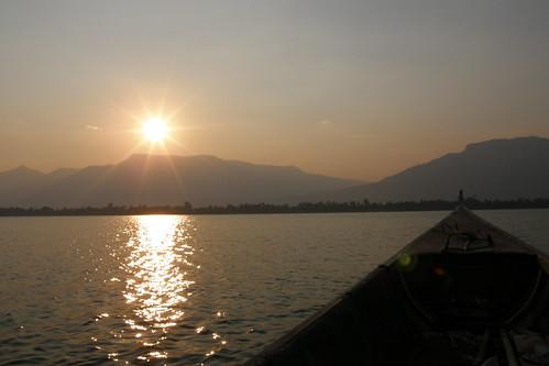 168.渡船上欣賞湄公河的日落