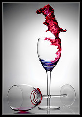 Glass of wine1 (byredis) Tags: red white cup glass speed photography milk high wine tea drop droplet collision
