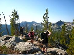 Caleb, Allison and Bob, Parker Ridge Trail, Selkirk Mountains, North Idaho.