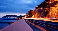 Non dirmi dove, non dirmi quando (FedericoGorgoglione) Tags: street speed lights italia mare liguria inverno aurelia lungomare spiaggia velocit imperia cervo luminosity sanbartolomeo federicogorgoglione