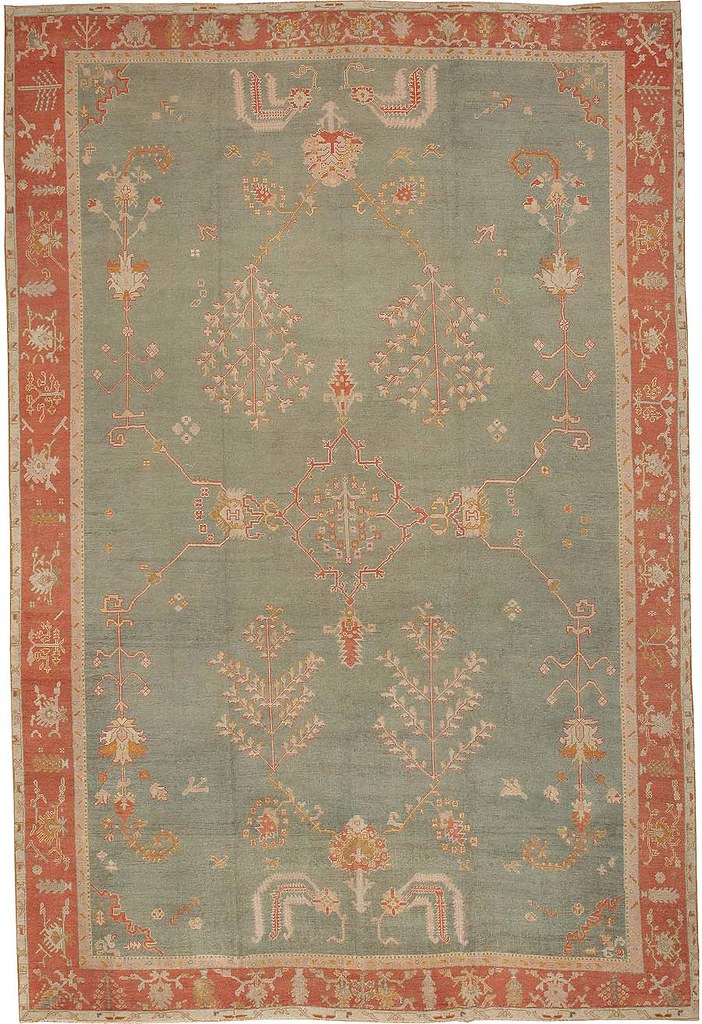Antique Oushak Turkish Rug #44439 by Nazmiyal Collection