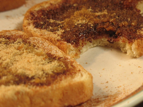 Cinnamon and Maple Sugar toast