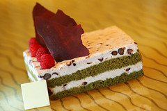 Green Tea And Red Bean Mousses Cake (b80399) Tags: red white green cake square tea sweet chocolate chinese cream style bean pastry raspberry and mousses