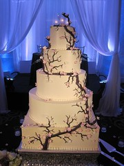 Cherry Blossom Wedding Cake (Sweet Pea 0613) Tags: weddingcake cherryblossoms buttercream fondantflowers fondantbranches