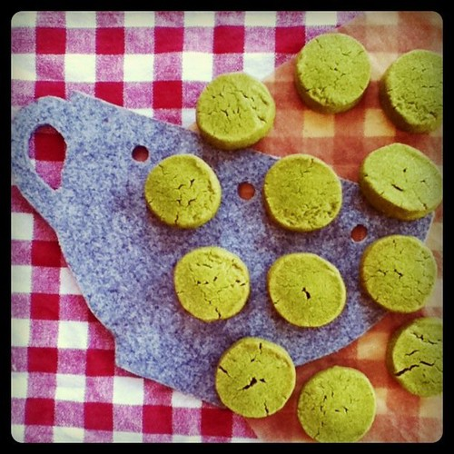 baking green tea cookies