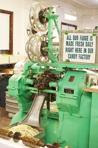 Taffy pulling machine.