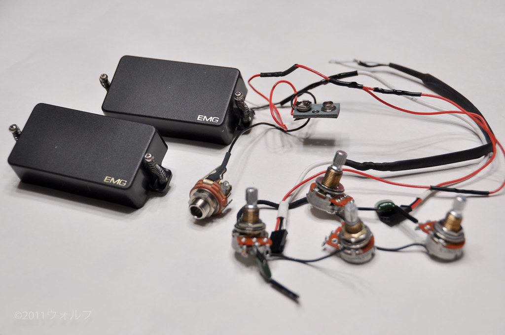 fs: emg 81/85 set with harness, metric pots | my les paul ... emg 81 85 set wiring #3