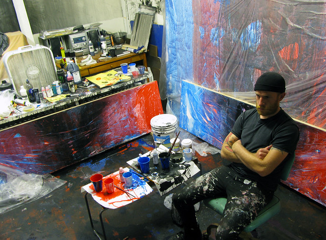 lee in his studio