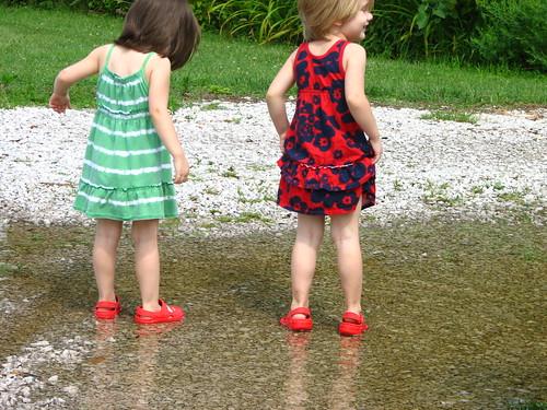 mud puddle fun times two