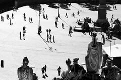 Observers (ninni garnett) Tags: street people blackandwhite rome silhouette blackwhite streetphotography bn canon5d biancoenero backlighting