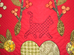 Wistful Willow (detail) by: Linda Roy Best in Show (the cat is threadwork)