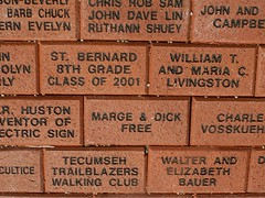 Named Bricks at Heritage Center