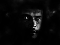 Emergiendo de la locura (john max) Tags: portrait blackandwhite bw black male men blancoynegro southamerica cali crazy eyes colombia retrato negro loco bn ojos mirada hombres suramerica johnmax