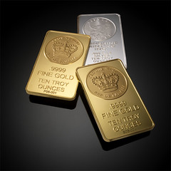Gold-and-Silver-Bars