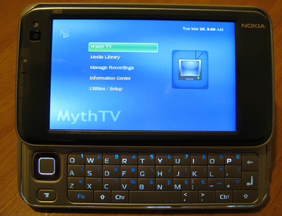 MythTV on Nokia 810