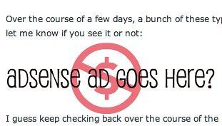 Google AdSense Ad Missing