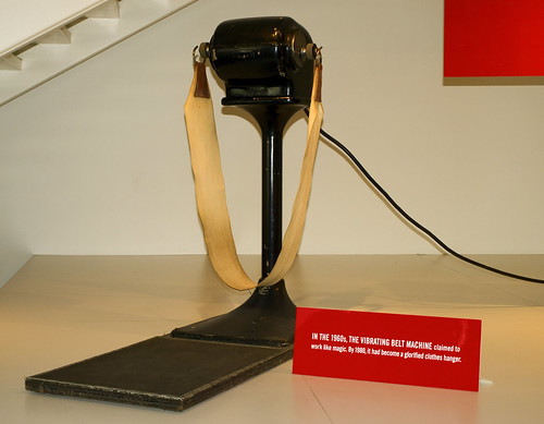 Photo- Vibrating Belt Machine- Useless for Weight Loss