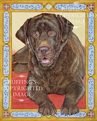 """""""Best Friend"""" AER85 by A E Ruffing Chocolate Lab"""