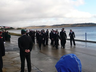 Royal Navy in attendance at Liberation Monument