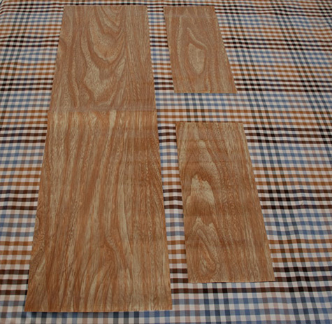 12 yard woodgrain oilcloth available here scissors ruler sewing machine and thread velcro sticky dots