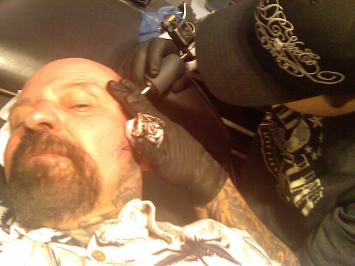 Getting Tattooed at Brainstorm Tattooo in Fayetteville,Arkansas